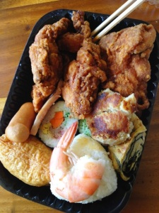 Inside a Cousins bento. Photo by Ken Arakawa.