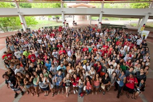 UH Hilo's Newest Vulcans at Orientation. Photo by Robbyn Peck.