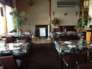 A look inside Prabha's Indian Restaurant.